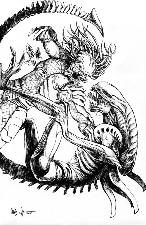 aliens vs predator drawings - photo #28